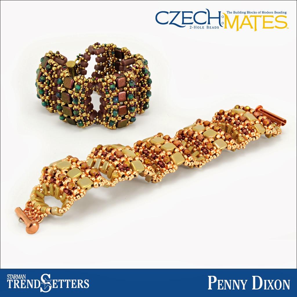 CzechMates Brick/Tile bracelets by Starman TrendSetter Penny Dixon