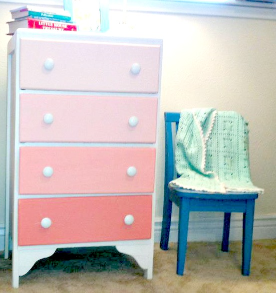 Here Is Another Project That I Have Had Finished For Charlotte S Room A Little While Now Ombre Dresser After Seeing This Post From Decor 8 With The