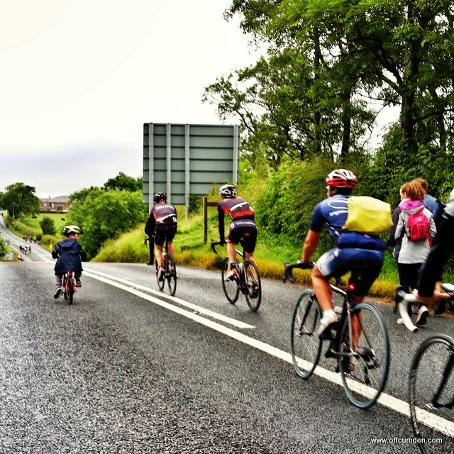 boy riding grand depart route