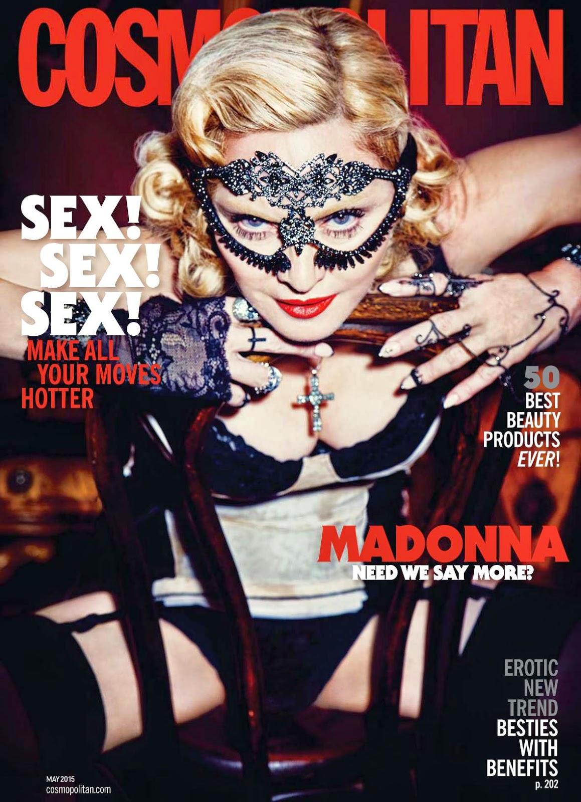 Singer, Actress @ Madonna - Cosmopolitan USA, May 2015