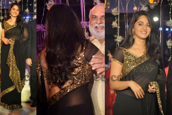 Anushka at Raghavendra Rao Son Wedding