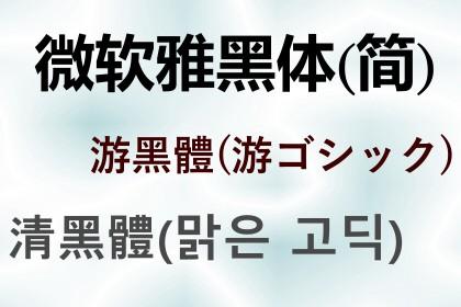 網頁中文字型除了微軟正黑體, 還有這些好選擇!(windows)