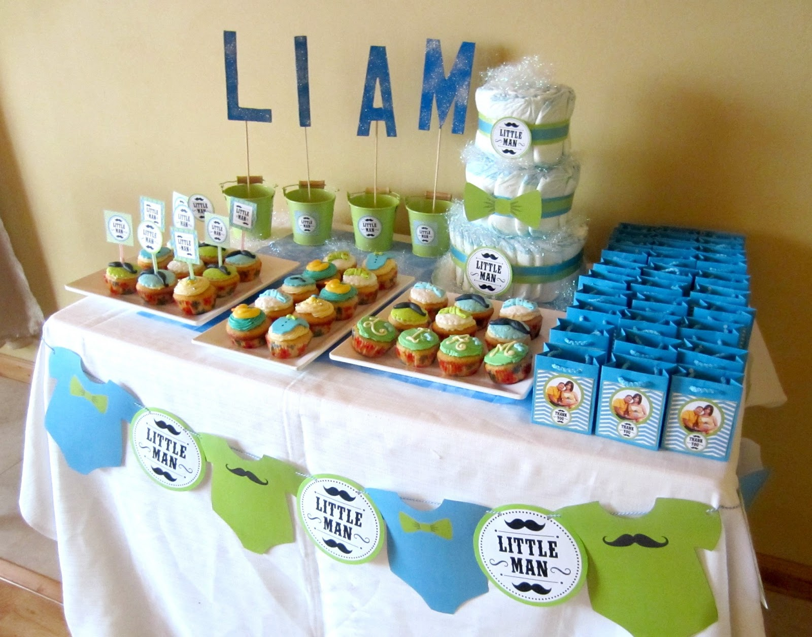 download image my little man baby shower theme pc android iphone and
