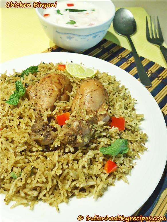 easy chicken biryani in pressure cooker