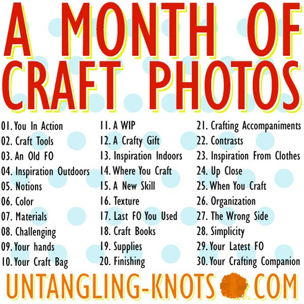 Plus 3 crochet a month of craft photos for Craft of the month