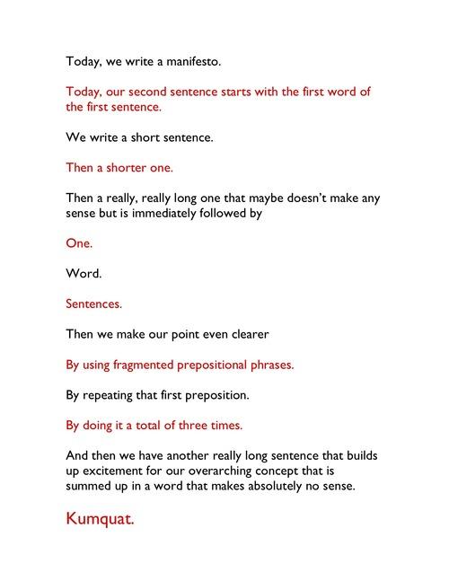 Ad aged the manifesto manifesto for Obi tannenbaum