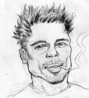 Brad Pitt pencil drawing sketch