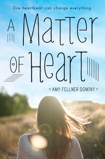http://www.amazon.com/Matter-Heart-Amy-Fellner-Dominy/dp/0385744439/