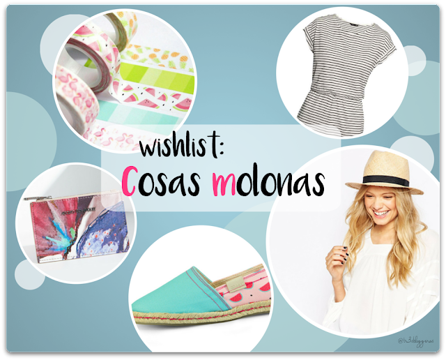 cosas molonas wishlist: ASOS, H&M, Adolfo Domínguez, Washi tapes, Mister Wonderful (Miss Hamptons), lista de deseos, compras, shopping