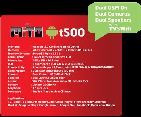 Gambar Android Mito T500 Tablet Tv Android Mito T500 Harga Murah
