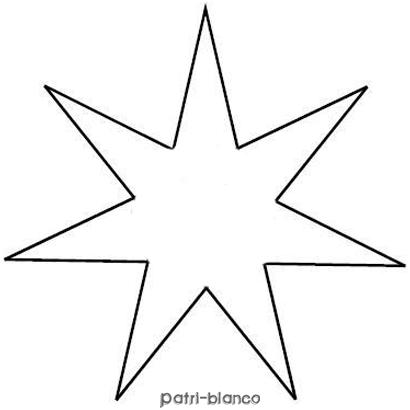 Como hacer estrellas navide as decoraci n patri blanco - Plantilla estrella navidad ...