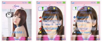 小嶋陽菜@AKB48 SonyEricsson手機主題for Elm/Hazel/Yari/W20﹝240x320﹞