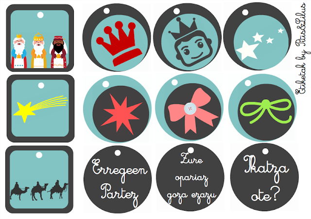 CHRISTMAS GIFT TAGS FREEBIES / ETIQUETAS PARA LOS REGALOS DE REYES FREEBIES EUSKERA