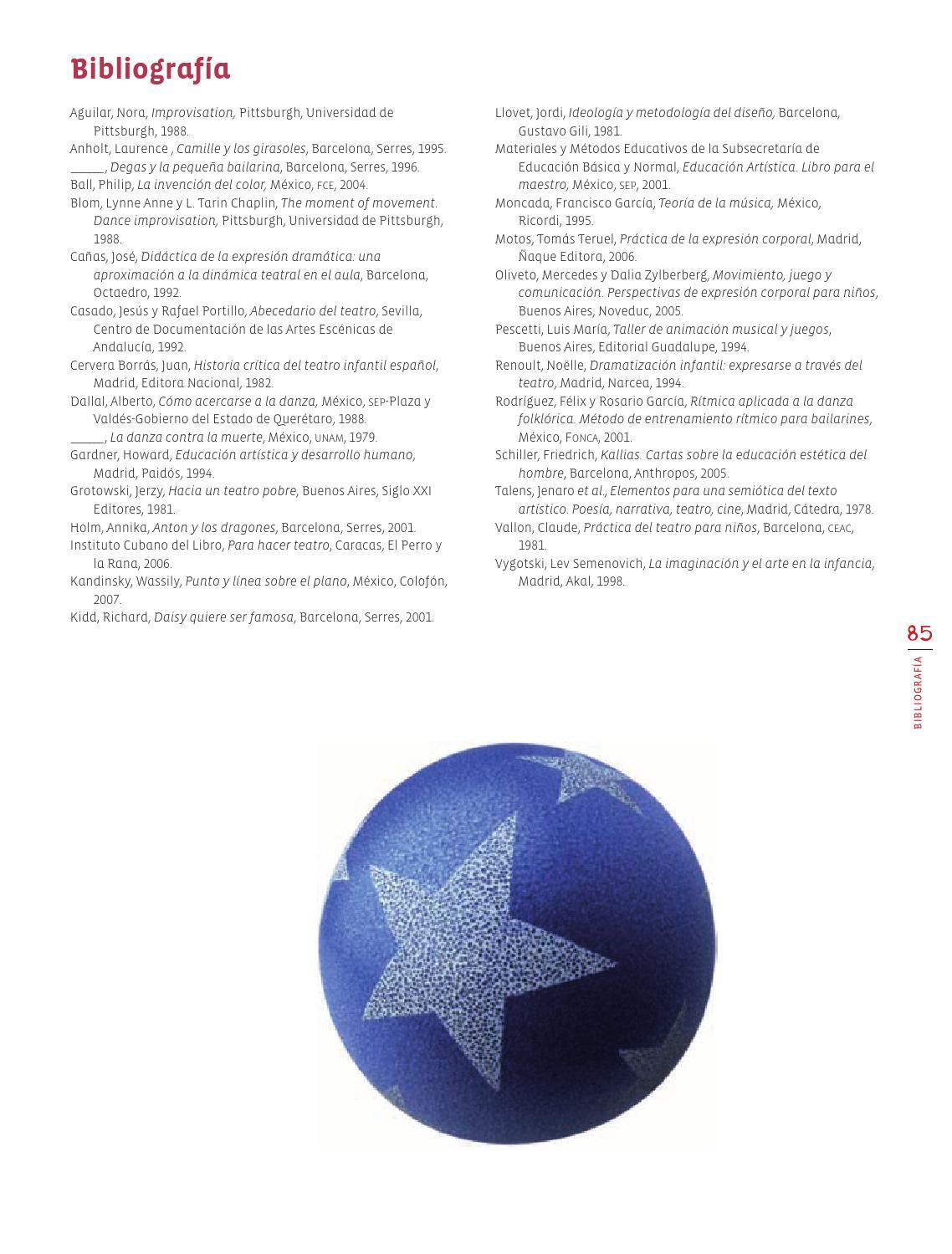 Bibliografía - Eduación Artística 3ro Bloque 5 2014-2015