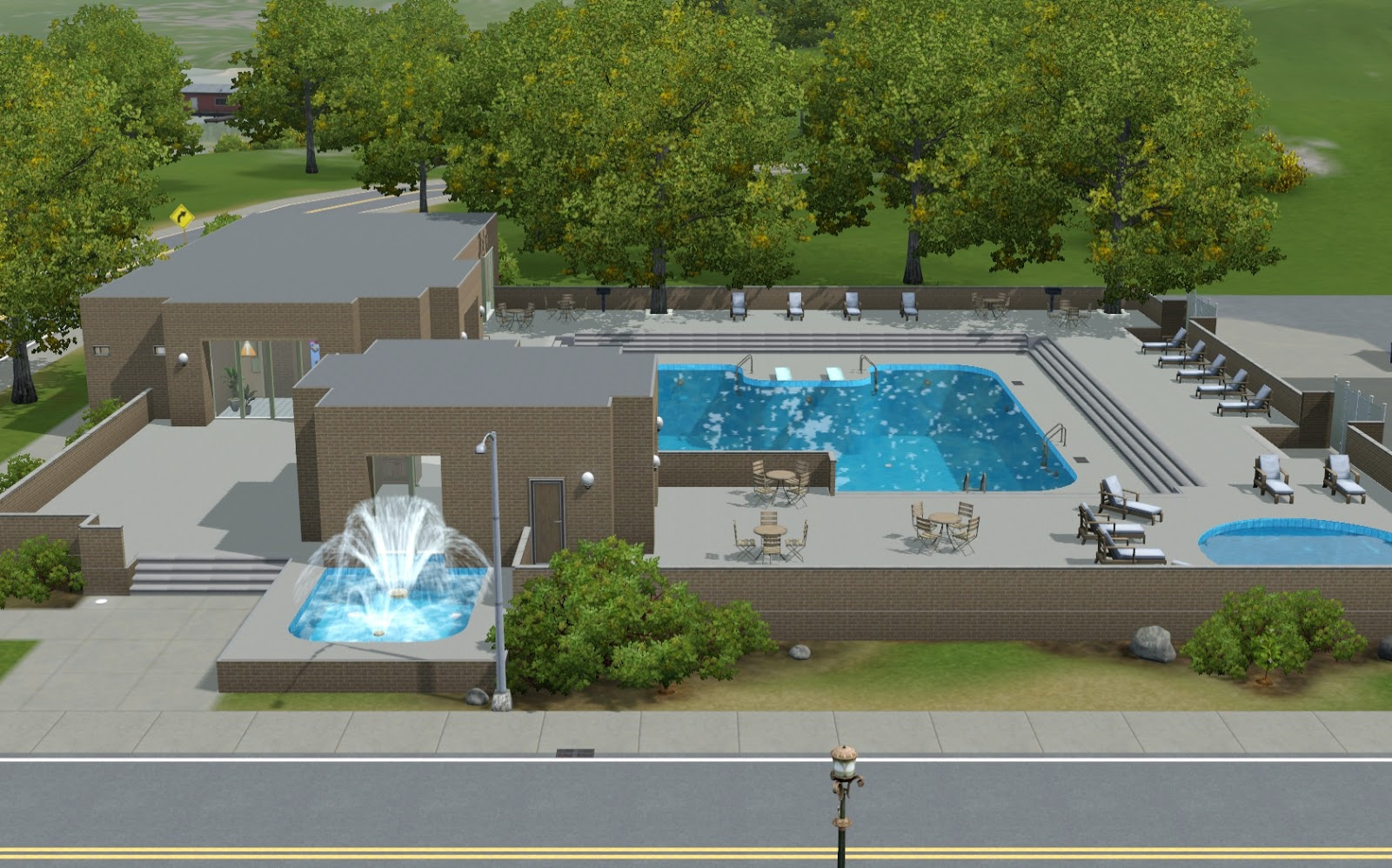 Summer 39 s little sims 3 garden sims university the sims 3 for Life of pi swimming pool