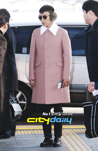 Big Bang T.O.P airport fashion 121214