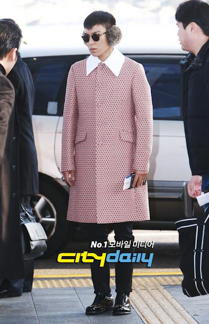 Big Bang T.O.P airport fashion 121214
