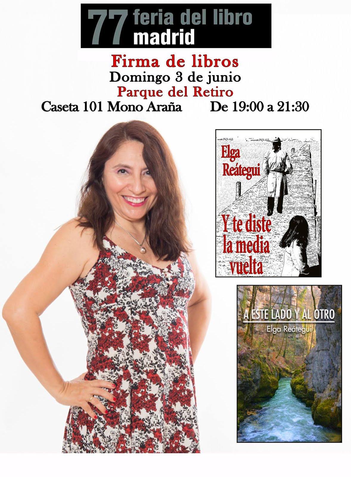Firma de mis novelas en la Feria del Libro de Madrid