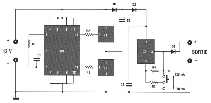 SCHEMA BATTERY CHARGER Ni-Cd BATTERY AUTO circuit schematic with ...