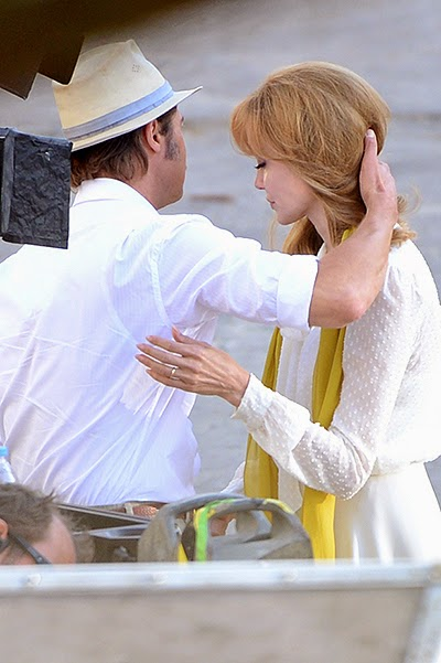 Angelina Jolie and Brad Pitt on the set of the film By the Sea