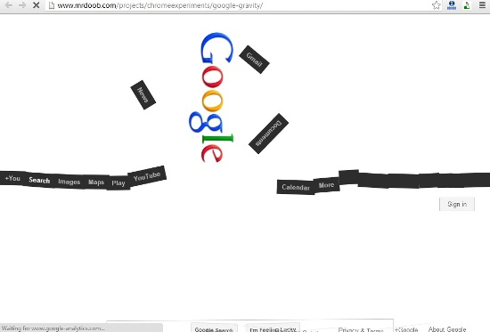 Google Gravity: How to Hack Google Homepage (Funny Trick)