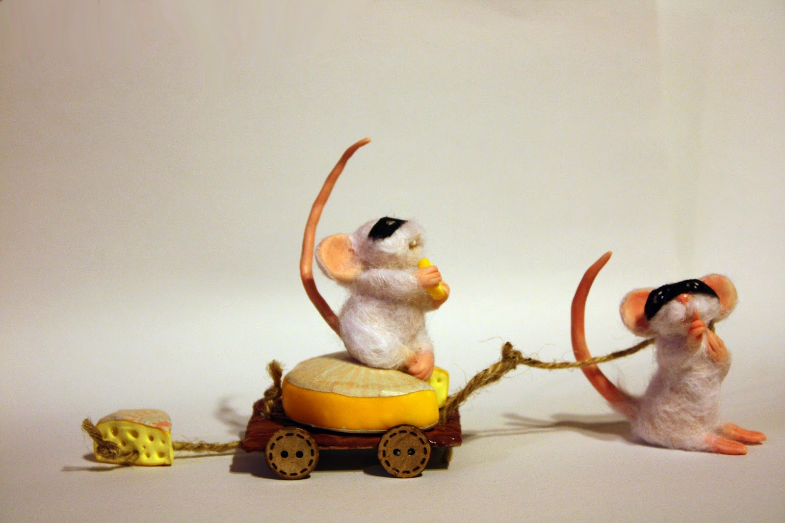 ooak mouse mice topo polimery clay miniature animal handmade