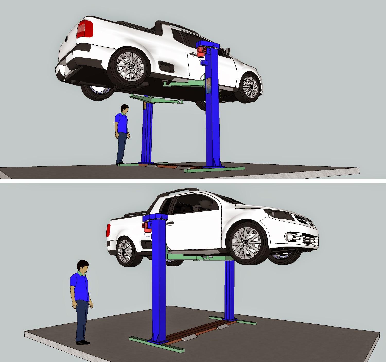 Seu Projeto Em 3d Elevador De Autos