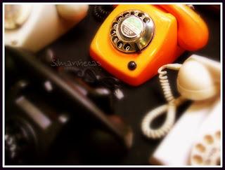 Teléfonos antiguos en la feria de desembalaje 2013 en el BEC-