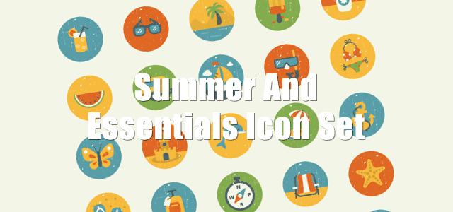 夏らしいモチーフでデザインされたカラフルで可愛い無料アイコン素材セット