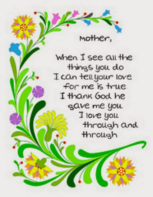 Short Poems For Mother's Day 2014 From Kids
