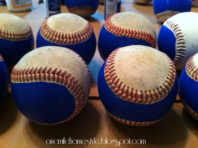 Painted Autograph Baseballs - End of Season Gifts | One Mile Home Style