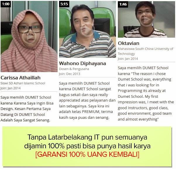 Testimoni Kursus SEO dan Internet Marketing Terbaik di Jakarta