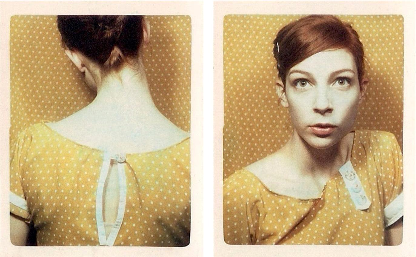 two colour photobooth strips by artist Meags Fitzgerald