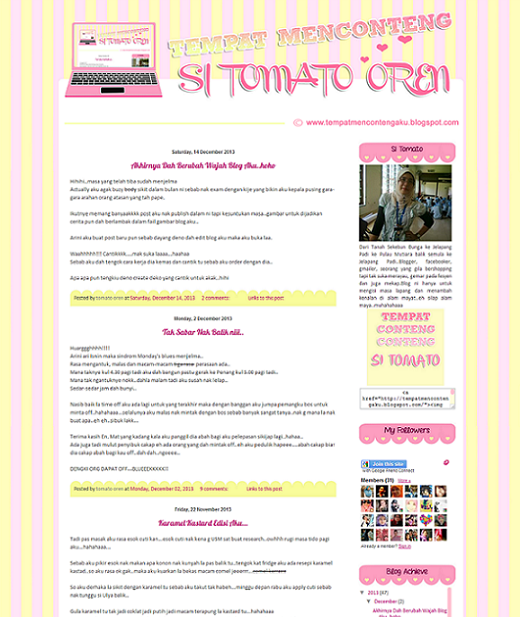 Tempahan : Simple Blog Edit & Design Si Tomato