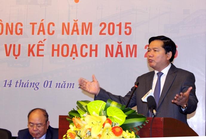 Bộ trưởng Đinh La Thăng phát biểu chỉ đạo hội nghị.