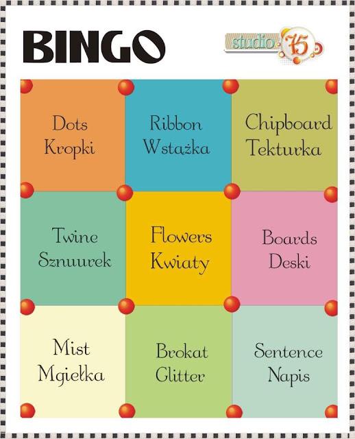 +++Wyzwanie #8 Bingo до 27/10