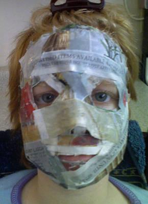 Новогодняя маска своими руками шаблон из бумаги