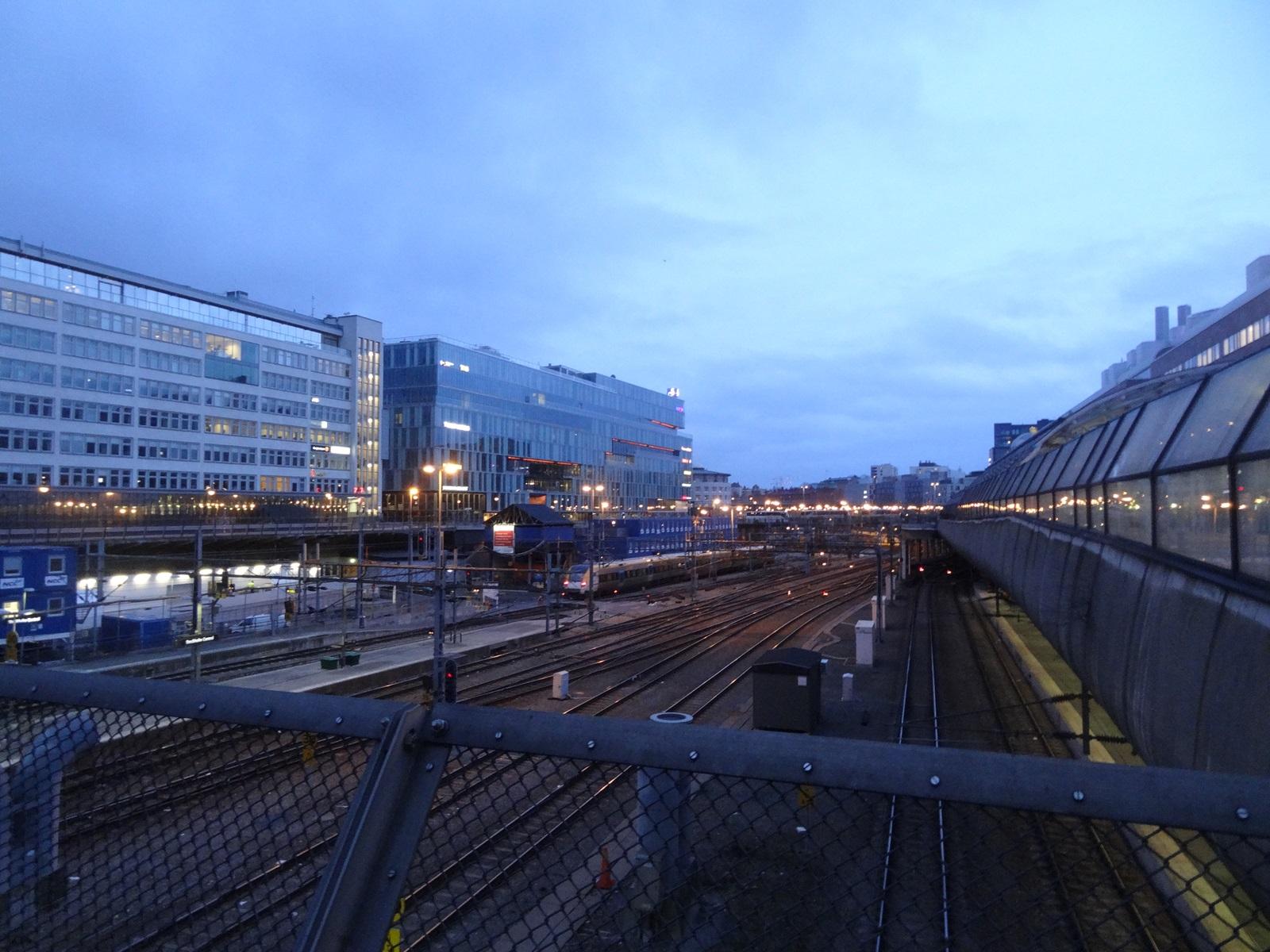 30 sztokholm dworzec centralny tory kolejowe