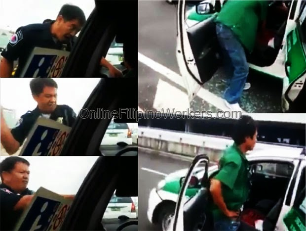 Watch Enrage NAIA Police Officer Caught Breaking the Taxi's Window Glass