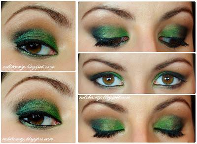 rubibeauty tutorial maquillaje navidad fin de año verde christmas look makeup