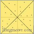 Bước 10: Dùng bút châm để hoàn thành cách xếp bánh quy bằng giấy theo phong cách origami.