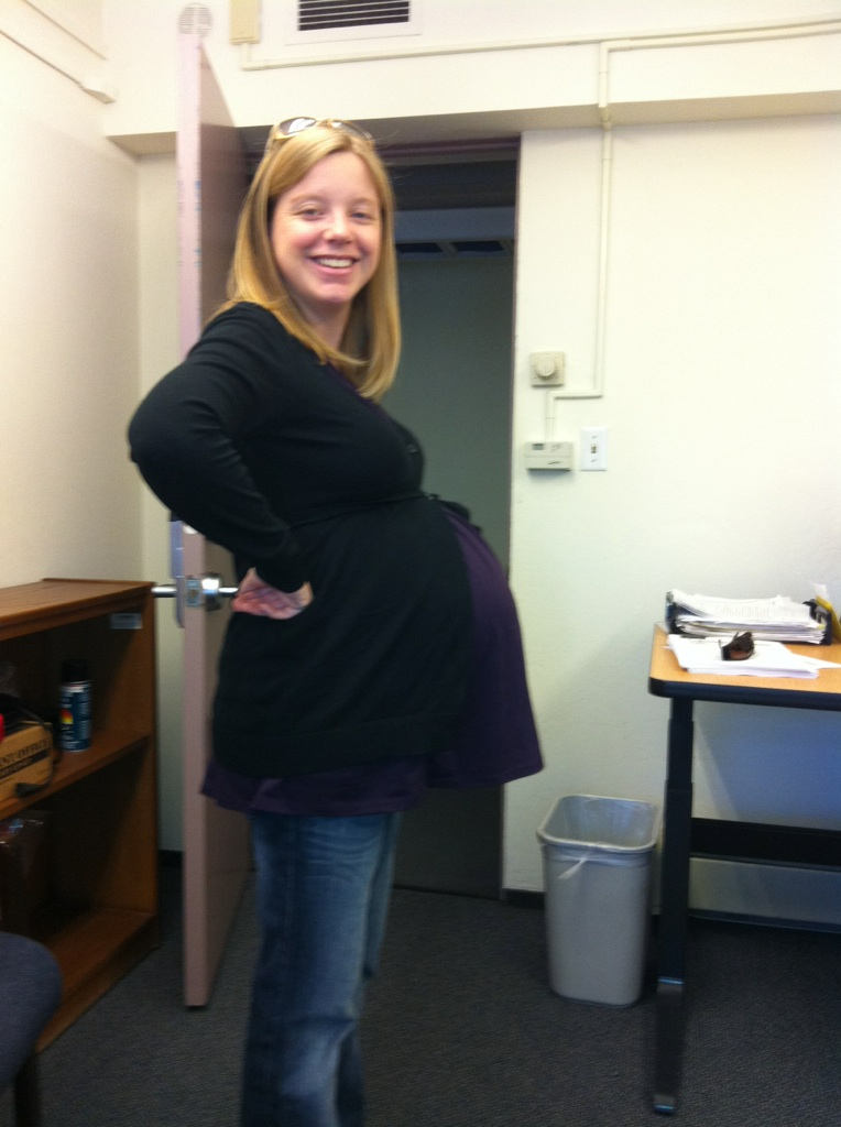 At 39 weeks, in hopes of avoiding another induction (they induced at 39w0d ...