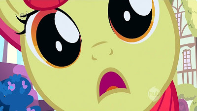 "Apple Bloom making her ""I want it NOW"" face"