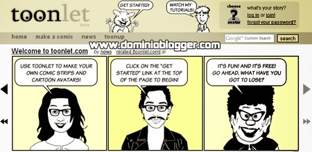 Crea tus comics o tiras comicas online en Toonlet.