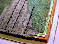 glimmer mist, japan, handmade card, 3D paper, gold powder, embossing