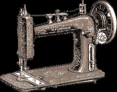 ilustración vintage de máquina de coser antigua