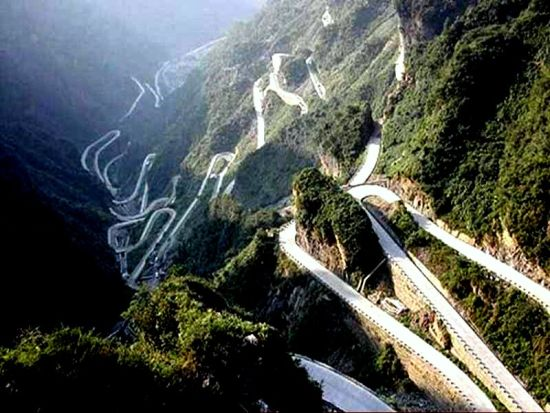 Tian Men Shan Road, Hunan Province, China
