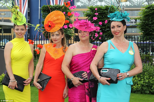 colorful guest on day one of Royal Ascot, 2013
