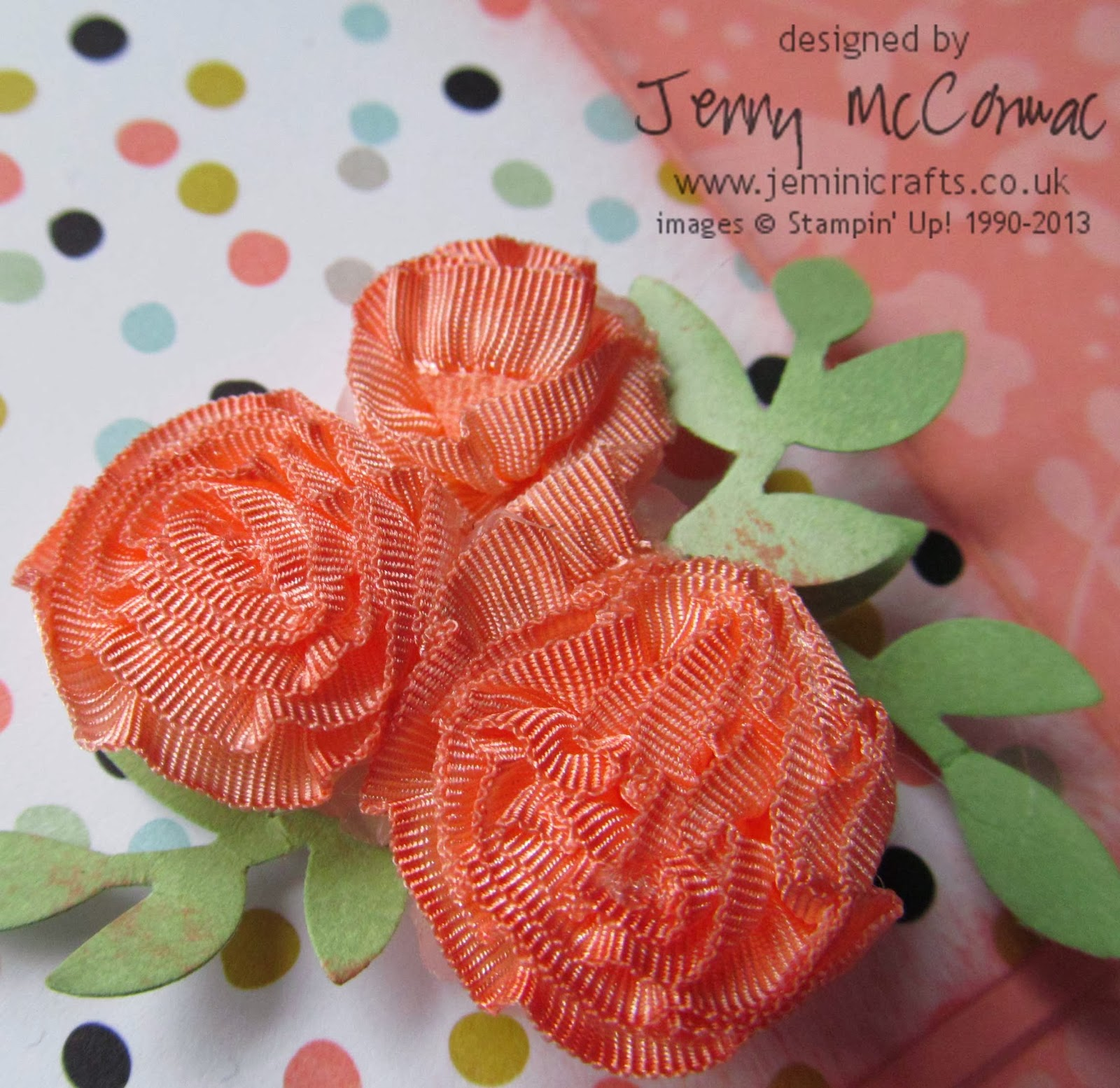 Pinkies Blog Hop Sale-A-Bration 2014 Jemini Crafts Ribbon Rose