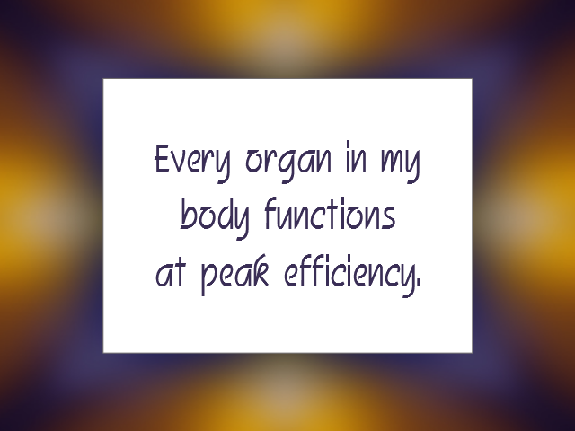 HEALTHY BODY affirmation